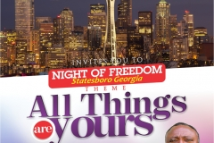 Night of Freedom March 8 2017